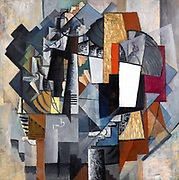Bureau and Room', 1913. Oil on canvas  Kazimir Malevich (1878–1935) Russian artist . Abstract