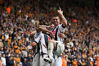 Photo: Rich Eaton.<br /> <br /> Wolverhampton Wanderers v West Bromwich Albion. Coca Cola Championship. Play off Semi Final, 1st Leg. 13/05/2007. West Brom captain Paul Robinson right celebrates after Diomansy Kamara scores in the second half to make it 3-2
