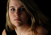 Portrait of a teenage girl.