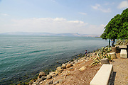 Israel, Sea of Galilee, Capernaum general view