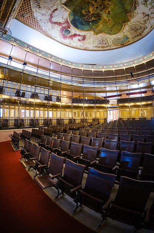 CIENFUEGOS, CUBA - CIRCA JANUARY 2020: Interior of Tomas Terry Theater and Auditorium in Cienfuegos