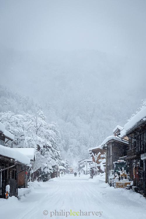 Houses in snow in Shirakawa-go, Japan