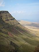 Picws Du (Bannau Sir Gaer) seen from Fan Foel, West Brecon Beacons Mountains, Wales