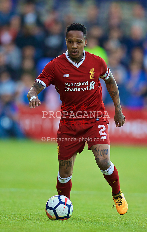 BIRKENHEAD, ENGLAND - Wednesday, July 12, 2017: Liverpool's Nathaniel Clyne in action against Tranmere Rovers during a preseason friendly match at Prenton Park. (Pic by David Rawcliffe/Propaganda)