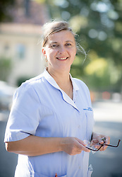 LJUBLJANA, SLOVENIA - SEPTEMBER 10:  Portrait of nurse Mateja Cizman Zajc, on September 10, 2021 in Klinicni center, Ljubljana, Slovenia. Photo by Vid Ponikvar / Sportida