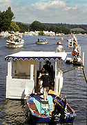 Henley, GREAT BRITAIN,   General View GV. from the Photograpers box to the Judges box, 1997 Henley Royal Regatta, Henley Reach, River Thames, 2-6 July 1997, Henley, ENGLAND [Mandatory Credit, Peter Spurrier/Intersport-images] 1997 Henley Royal Regatta, Henley, Great Britain