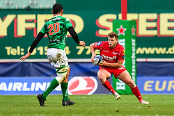 Scarlets' Steffan Hughes in action - Mandatory by-line: Craig Thomas/JMP - 09/12/2017 - RUGBY - Parc y Scarlets - Llanelli, Wales - Scarlets v Benetton Rugby - European Rugby Champions Cup