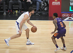 December 20, 2017 - Los Angeles, California, U.S - Milos Teodosic #4 of the Los Angeles Clippers with the ball during their NBA game with the Phoenix Suns on Wednesday December 20, 2017 at the Staples Center in Los Angeles, California. Clippers vs Suns. (Credit Image: © Prensa Internacional via ZUMA Wire)