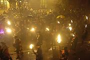 Robertsbridge Bonfire Procession 2009. High St. Robertsbridge. 21 November 2009 *** Local Caption *** -DO NOT ARCHIVE-© Copyright Photograph by Dafydd Jones. 248 Clapham Rd. London SW9 0PZ. Tel 0207 820 0771. www.dafjones.com.<br /> Robertsbridge Bonfire Procession 2009. High St. Robertsbridge. 21 November 2009