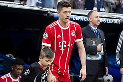 May 1, 2018 - Madrid, Spain - Bayern Munich Robert Lewandowski during Semi Finals UEFA Champions League match between Real Madrid and Bayern Munich at Santiago Bernabeu Stadium in Madrid, Spain. May 01, 2018. (Credit Image: © Coolmedia/NurPhoto via ZUMA Press)