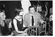 Catherine Dyer; David Bailey. Versace fashion show. V and A. 2 October 1985. SUPPLIED FOR ONE-TIME USE ONLY> DO NOT ARCHIVE. © Copyright Photograph by Dafydd Jones 248 Clapham Rd.  London SW90PZ Tel 020 7820 0771 www.dafjones.com