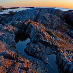 Dawn on the New Hampshire coast in Rye, New Hampshire.