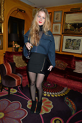 HANNAH GEORGE at an exclusive dinner for Iris Apfel held at Annabel's, Berkeley Square, London on 29th July 2015.