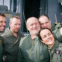 Mains Farm Wigwams Royal Navy Sea King visit 02