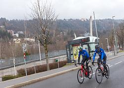23.03.2018, Rad-WM-Strecke, Innsbruck, AUT, Testbefahrung der Strecke für die UCI Straßenrad WM 2018 in Innsbruck-Tirol mit der italienischen Nationalmannschaft, im Bild v.l.:  Alessandro De Marchi und Vincenzo Nibali // during a test inspection of the track with the italian cycling team for the UCI 2018 UCI Road World Championships in Innsbruck-Tirol, Austria on 2018/03/23. EXPA Pictures © 2018, PhotoCredit: EXPA/ Jakob Gruber