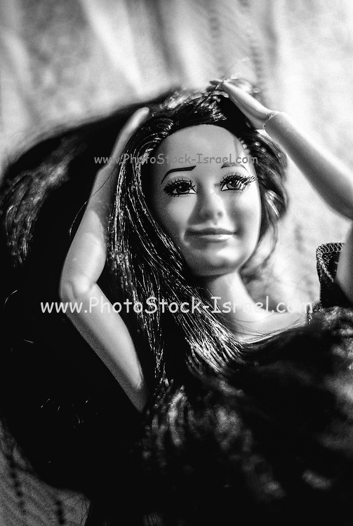 Close up of a doll with selective focus