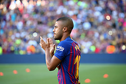 August 15, 2018 - Barcelona, Spain - Rafinha during the presentation of the team 2018-19 before the match between FC Barcelona and C.A. Boca Juniors, corresponding to the Joan Gamper trophy, played at the Camp Nou, on 15th August, 2018, in Barcelona, Spain. (Credit Image: © Joan Valls/NurPhoto via ZUMA Press)