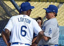 June 10, 2017 - Los Angeles, California, U.S. - Former Los Angeles Dodgers Kenny Lofton (6) along with Fernando Valenzuela during the Old Timers game prior to a Major League baseball game between the Cincinnati Reds and the Los Angeles Dodgers at Dodger Stadium on Saturday, June 10, 2017 in Los Angeles. (Photo by Keith Birmingham, Pasadena Star-News/SCNG) (Credit Image: © San Gabriel Valley Tribune via ZUMA Wire)
