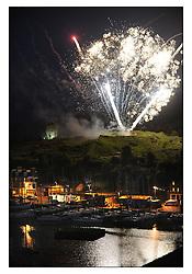 The Brewin Dolphin Scottish Series, Tarbert Loch Fyne..Tarbert Castle Fireworks..