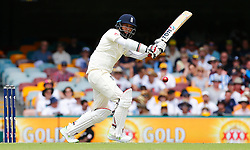 England's Moeen Ali plays a shot during day two of the Ashes Test match at The Gabba, Brisbane.