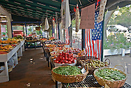 Amagansett Farmers' Market on Main Street, New York, Long Island, Amagansett