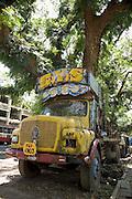 An abandoned truck in Kochi (old Cochin).