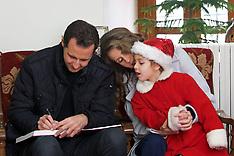 Syria - President Bashar And Asma Al Assad Celebrate Christmas - 25 Dec 2016