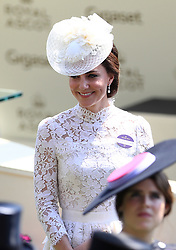 The Duchess of Cambridge during day one of Royal Ascot at Ascot Racecourse.
