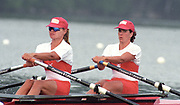 World Rowing Championships, Tampere, FINLAND, CAN W2X, Bow, Marnie McBEAN and Katherine HEDDLE, 1995, Photo  Peter Spurrier/Intersport Images<br /> email images@intersport-images.com Re-Edited and file ref No. updated, 16th January 2021.