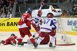15.04.2011, Orange Arena, Bratislava, SVK, IIHF 2011 World Championship, Russia vs Czech Republic, im Bild ..KOVALCHUK ILYA'S SECOND GOAL.. EXPA Pictures © 2011, PhotoCredit: EXPA/ EXPA/ Newspix/ .Tadeusz Bacal +++++ ATTENTION - FOR AUSTRIA/(AUT), SLOVENIA/(SLO), SERBIA/(SRB), CROATIA/(CRO), SWISS/(SUI) and SWEDEN/(SWE) CLIENT ONLY +++++
