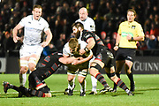 Edinburgh were solid in defence during the Guinness Pro 14 2017_18 match between Edinburgh Rugby and Ospreys at Myreside Stadium, Edinburgh, Scotland on 4 November 2017. Photo by Kevin Murray.