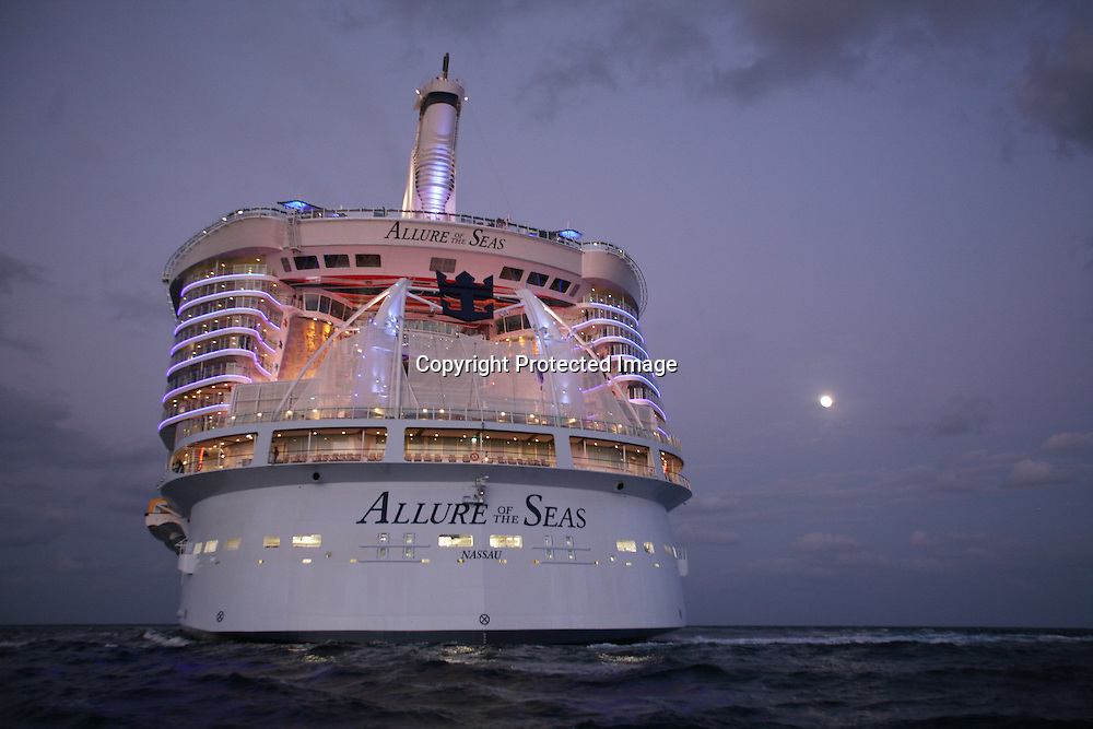 Launch of Royal Caribbean International's newest ship Allure of the Seas..