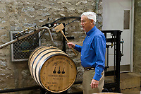 Coopering demonstration, Woodford Reserve Distillery (premium bourbon), Versailles (near Lexington), Kentucky USA