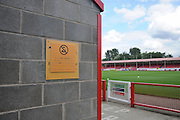 Crawley's infamous selfie spot has been shut down during the Sky Bet League 2 match between Crawley Town and AFC Wimbledon at the Checkatrade.com Stadium, Crawley, England on 15 August 2015. Photo by Michael Hulf.