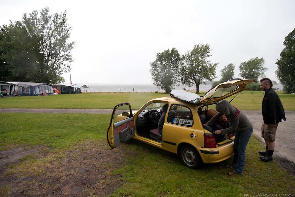 Camping at Bad Hoophuizen in Hulshorst, Netherlands.