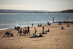 © Licensed to London News Pictures . 13/09/2019. Bournemouth, UK. People on the beach in Bournmeouth as a late summer heatwave brings high temperatures to the south coast of England . Photo credit: Joel Goodman/LNP