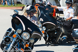 Ride like a Pro drill team at Destination Daytona in Ormond Beach during Biketoberfest, FL, October 18, 2014, photographed by Michael Lichter. ©2014 Michael Lichter