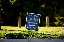 Cape Town-180818 Sign of for sale in Van Reede Road in Stellenbosch. Stellenbosch has seen a rise in land and farm and property for sale after the  Land expropriation without compensation debate  Pictures Ayanda Ndamane/African/news/agency ANA