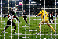 21.10.2011, SGL Arena, Augsburg, GER, 1.FBL, FC Augsburg vs. Werder Bremen, im Bild Tor zum 1-1 durch Claudio Pizarro (Bremen #24) mit Simon Jentzsch (Augsburg #1)  // during the FC Augsburg vs. Werder Bremen , on 2011/10/21, SGL Arena, Augsburg, Germany, EXPA Pictures © 2011, PhotoCredit: EXPA/ nph/  Straubmeier       ****** out of GER / CRO  / BEL ******