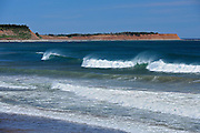Waves and surf on the Atlantic Ocean<br />Lawrence Beach Provincial Park<br />Nova Scotia<br />Canada