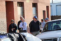 City officials debate what to do after protesters and Chinatown residents blocked Soledad Street from trucks commissioned by the city to clean up the area on Wednesday, March 23rd, 2016.