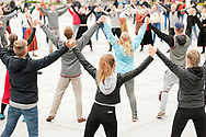 12th Youth Song and Dance Celebration, Tallinn, Estonia. Dance Celebration performance in Freedom Square, after the scheduled afternoon performance in Kalev stadium was cancelled due to bad weather (1 July 2017)  © Rudolf Abraham