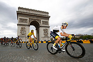 Christopher Froome (GBR - Team Sky), Geraint Thomas (GBR - Team Sky) , Arc de Triomphe, during the 105th Tour de France 2018, Stage 21, Houilles - Paris Champs-Elysees (115 km) on July 29th, 2018 - Photo Luca Bettini /BettiniPhoto / ProSportsImages / DPPI