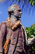 Captain Cook statue, Waimea, Kauai<br />