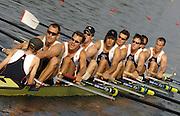 Poznan, POLAND.  2006, FISA, Rowing World Cup,GBR  M8+ bow, Jonno DEVLIN, Tom STALLARD, Matt LANGRIDGE,Tom SOLESBURY, Josh WEST,  Hugo LEE, Toby GARBUTT, Kieran WEST, cox, Acer NETHERCOTT.  move away from the start pontoon at the   'Malta Regatta course;  Poznan POLAND, Fri. 16.06.2006. © Peter Spurrier   ....[Mandatory Credit Peter Spurrier/ Intersport Images] Rowing Course:Malta Rowing Course, Poznan, POLAND