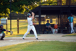 24 June 2016:  Cody Rogers during a  Midwest Collegiate League Baseball game between the Joliet Admirals and the Bloomington Bobcats at American Legion Field in O'Neil Park at Bloomington, Illinois