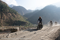Bear Haughton on Day-7 of our Himalayan Heroes adventure riding from Tatopani to Pokhara, Nepal. Monday, November 12, 2018. Photography ©2018 Michael Lichter.