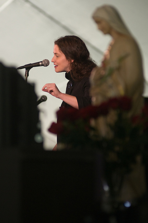 Gianna Jessen an abortion surviver addresses youths at the St. John Bosco Youth Rally on September 27, 2008 at Holy Hill in Hubertus, Wisconsin