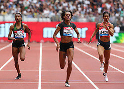 July 22, 2018 - London, United Kingdom - L-R Courtney Okolo of USA, Stephenie Ann McPHERSON of Jamaica (Winner) and Anastasia Le-Roy of Jamaica Compete in the 400m Women race.during the Muller Anniversary Games IAAF Diamond League Day Two at The London Stadium on July 22, 2018 in London, England. (Credit Image: © Action Foto Sport/NurPhoto via ZUMA Press)
