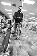 Aaron keeps it clean at Everyday Music on Sandy Blvd in Portland, OR